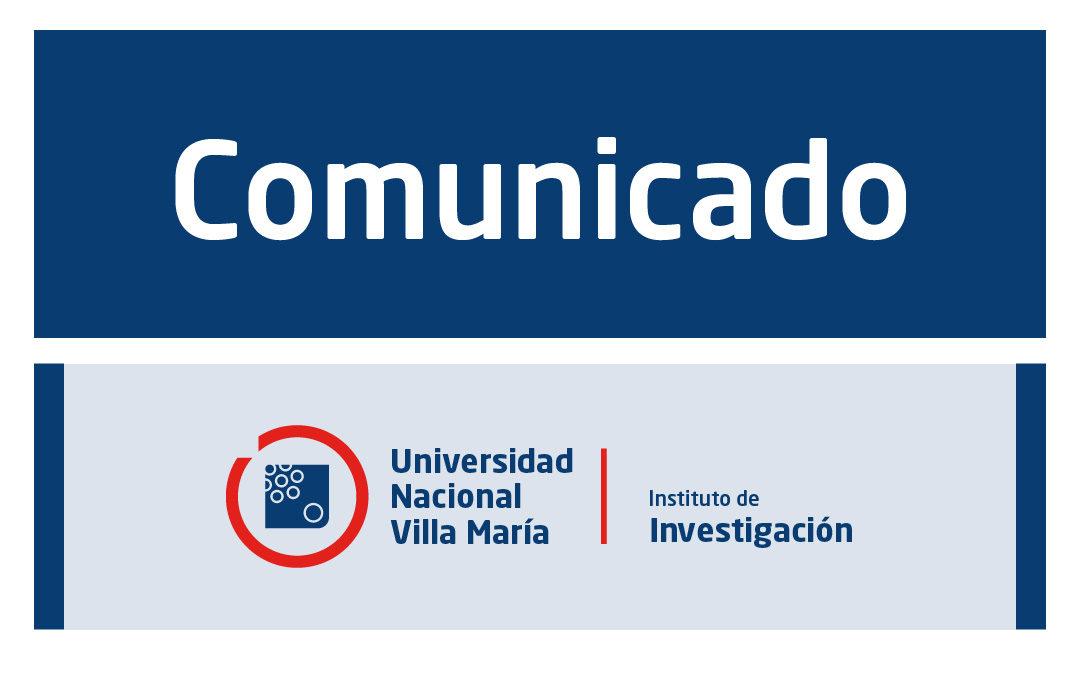 Comunicado para docentes investigadores/as