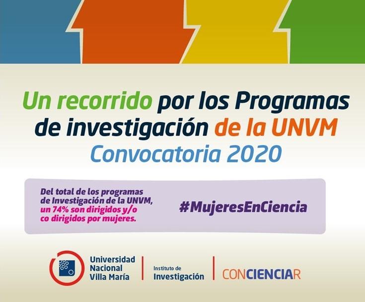 Divulgación científica: Programas de Investigación UNVM