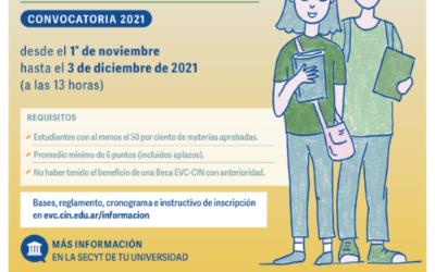 Apertura convocatoria EVC- CIN 2021