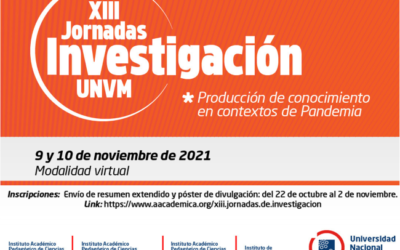 Inscripciones XIII Jornadas de Investigación 2021
