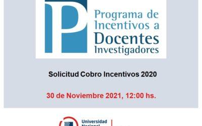 Solicitud de cobro de Incentivos 2020